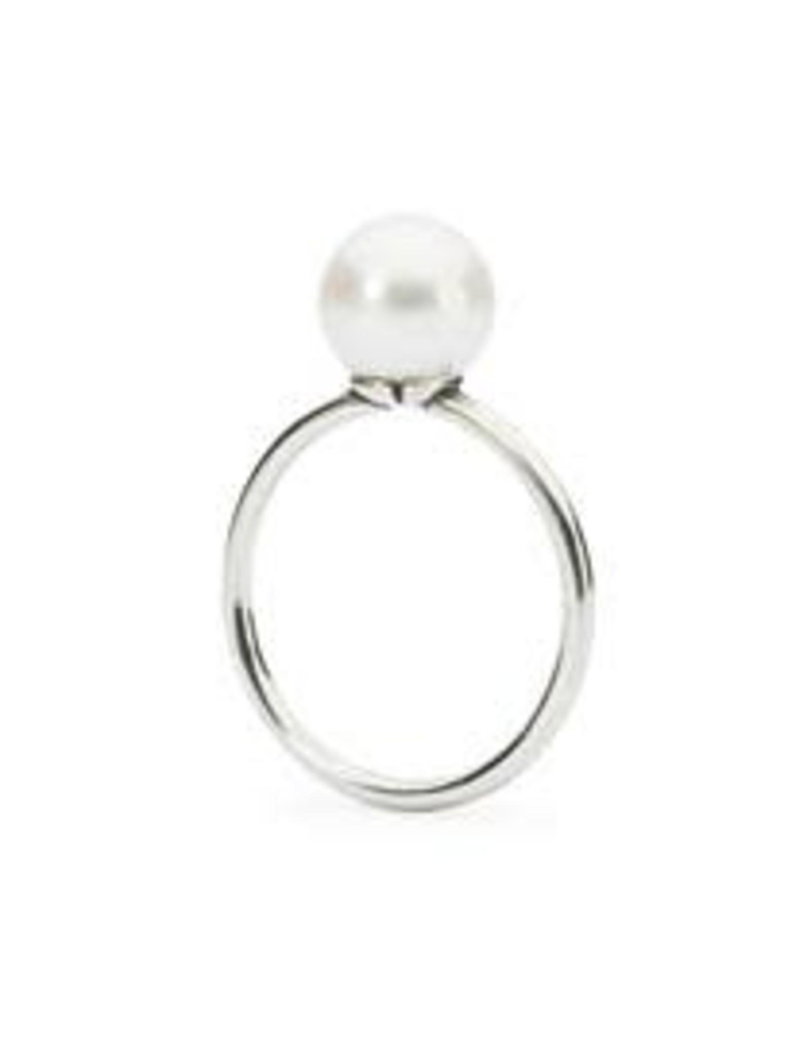 Trollbeads Trollbeads TAGRI-00071 Ring met witte parel