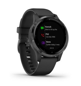 Garmin Garmin 010-02172-12 Vivoactive 4S Black Silicone Band Small
