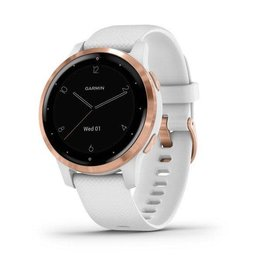 Garmin Garmin 010-02172-22 Vivoactive 4S Rose Gold Case White Silicone Band Small