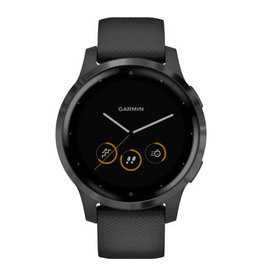Garmin Garmin 010-02174-12 Vivoactive 4 Black Silicone Band 45mm Medium