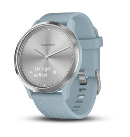 Garmin Garmin 010-01850-08 Vivomove HR Sport Silver Case Blue Silicone Band Small/Medium