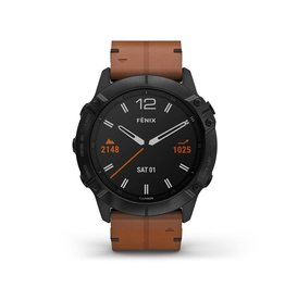 Garmin Garmin 010-02157-14 Fenix 6X GPS Chestnut Leather Band 51mm Large