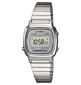 Casio Casio Retro LA670WEA-7EF Zilverkleurig
