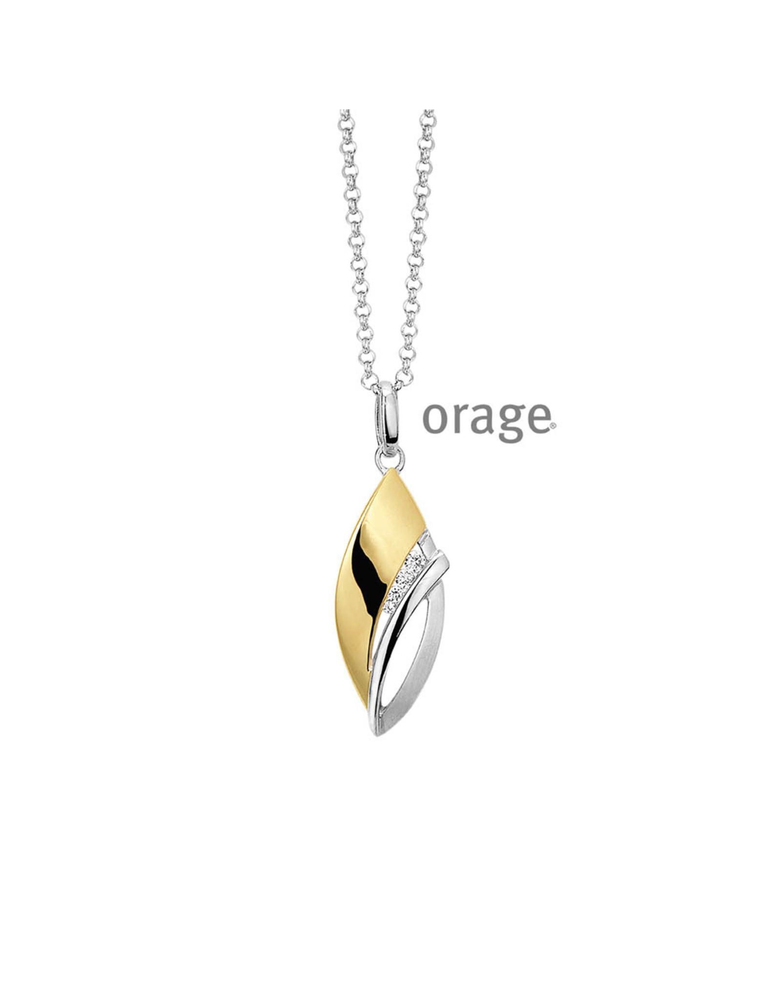 Orage Halsketting Bicolor Zilver Goudkleurig K/9146/45-A