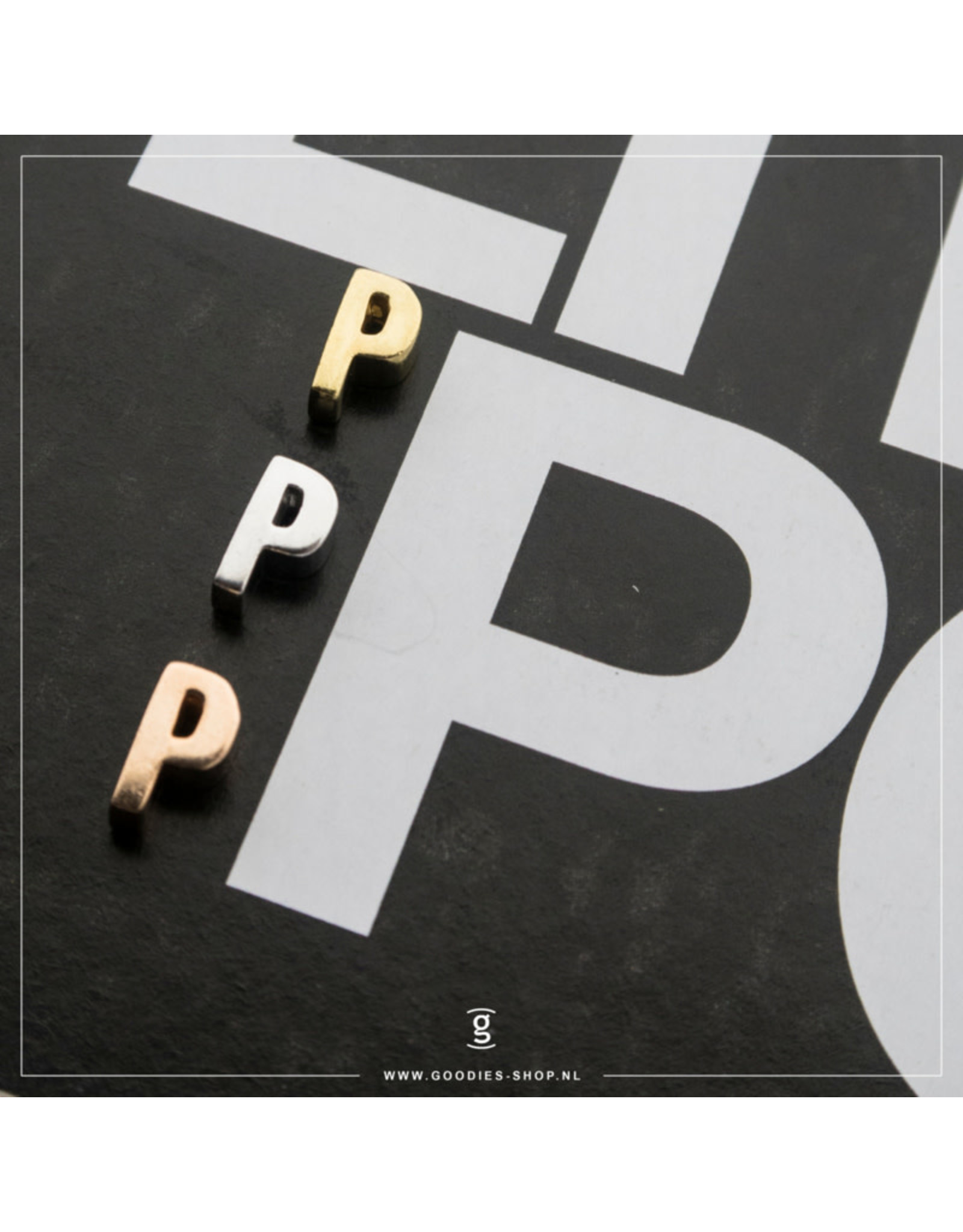 Imotionals Hanger Letter P zilver goudkleurig