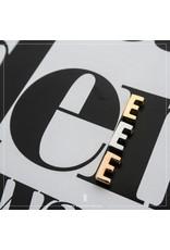 Imotionals Hanger Letter E zilver goudkleurig