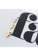 Imotionals Hanger Letter F zilver goudkleurig
