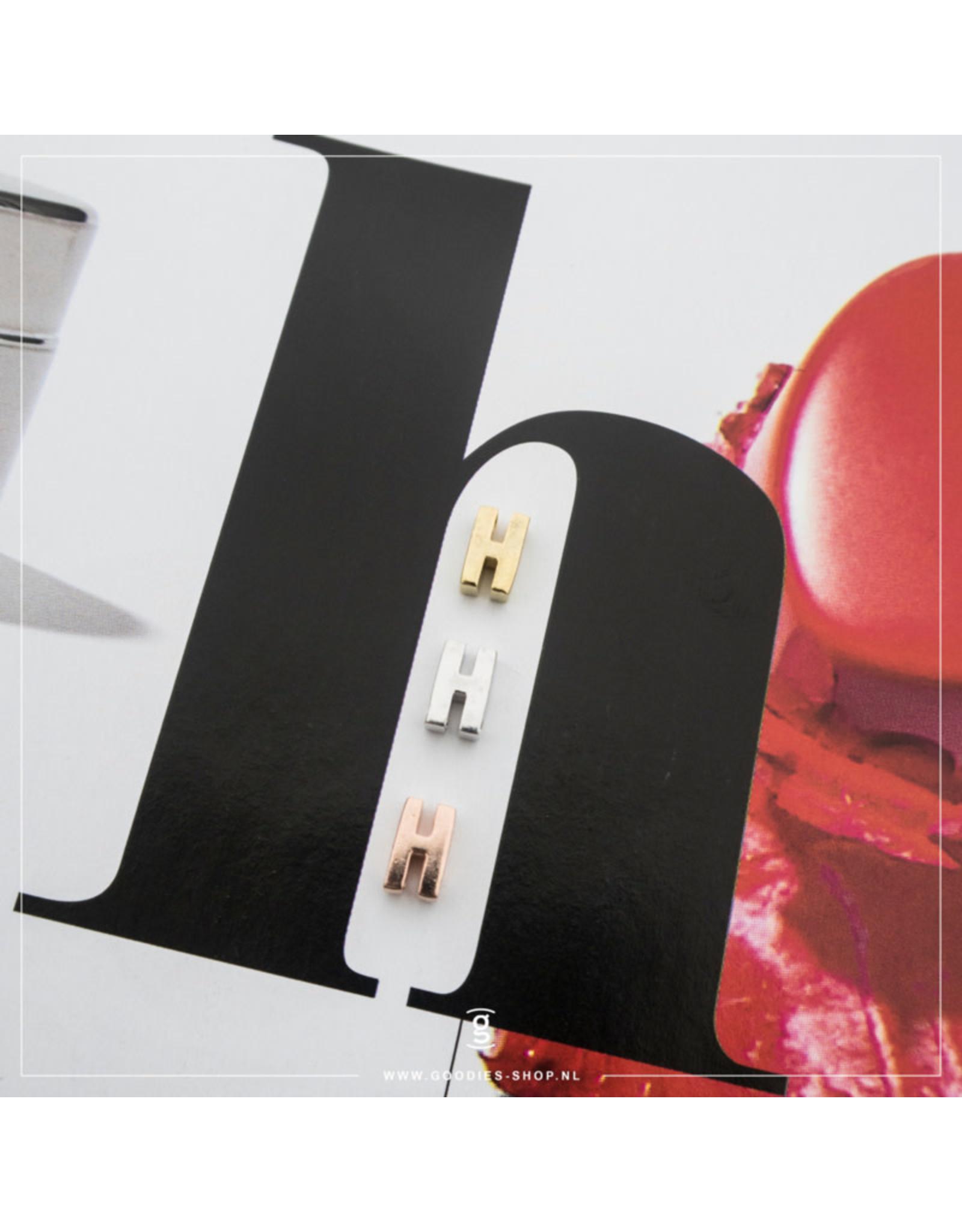 Imotionals Hanger Letter H zilver goudkleurig