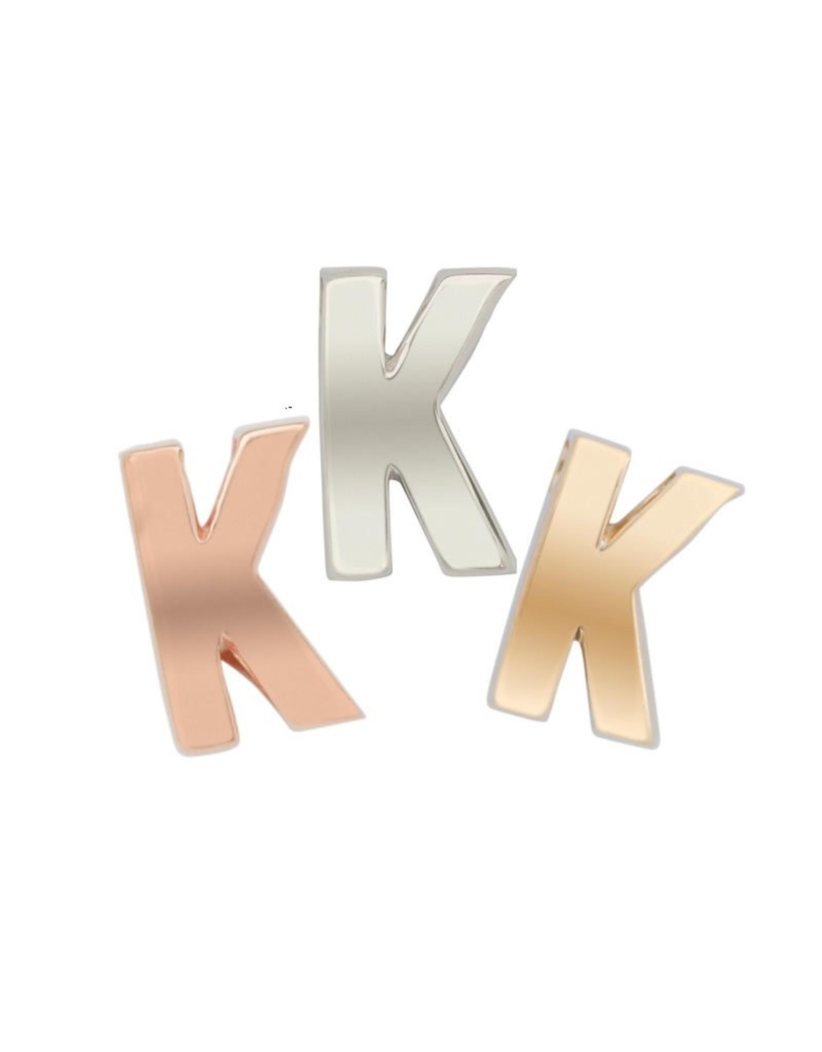 Imotionals Hanger Letter K zilver goudkleurig