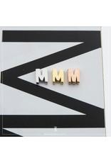 Imotionals Hanger Letter M zilver goudkleurig