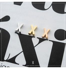 Imotionals Hanger Letter X zilver goudkleurig
