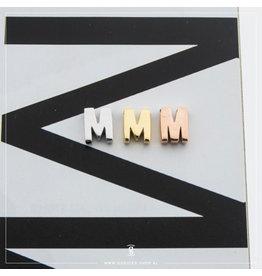 Imotionals Hanger Letter M zilver roos