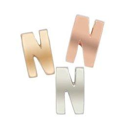 Imotionals Hanger Letter N zilver roos