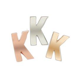 Imotionals Hanger Letter K zilver roos
