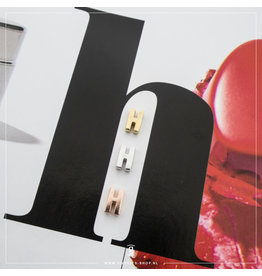 Imotionals Hanger Letter H zilver roos