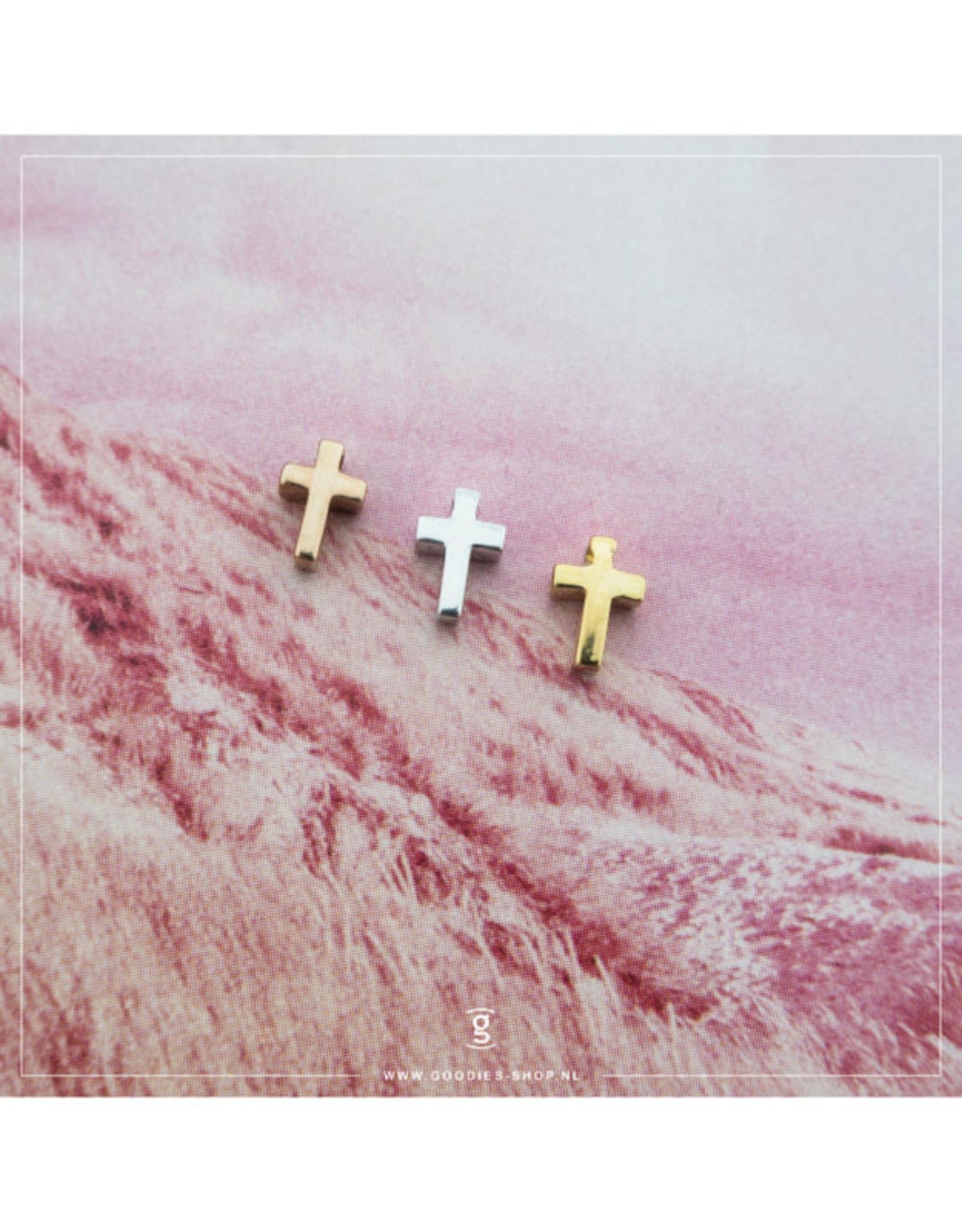 Imotionals Hanger kruisje zilver roos