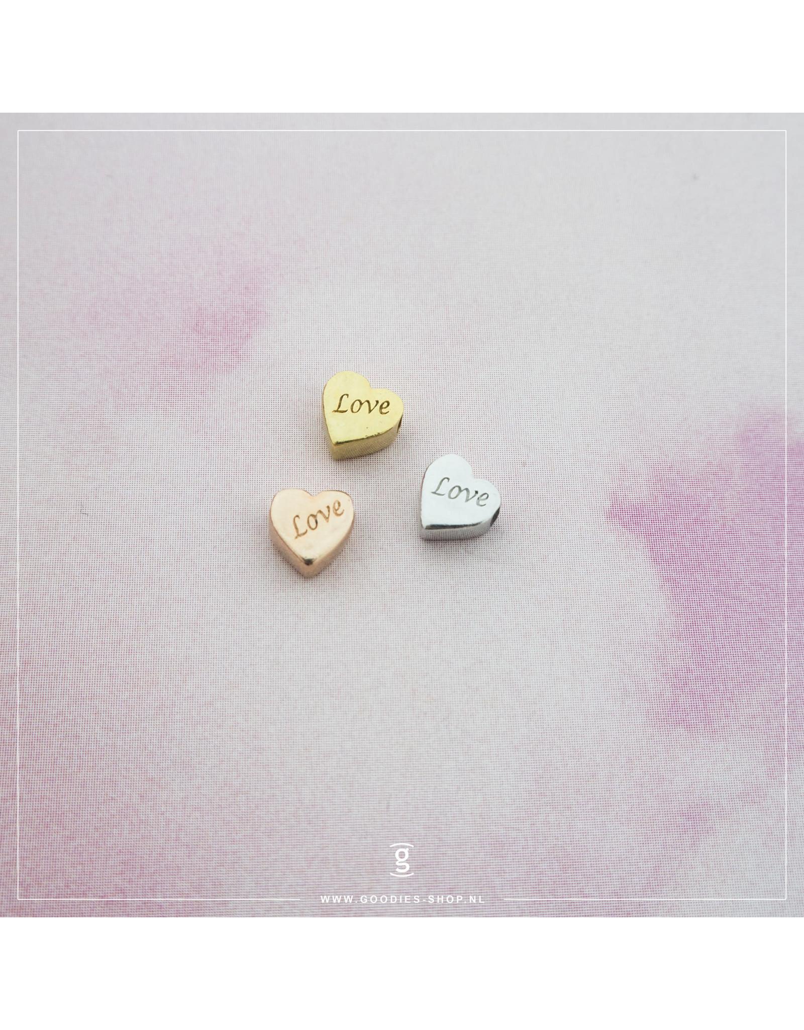 Imotionals Hanger hartje love zilver roos