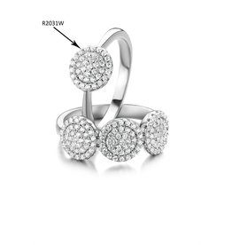 Silver Rose Ring Silver Rose Zilver R2031W-52