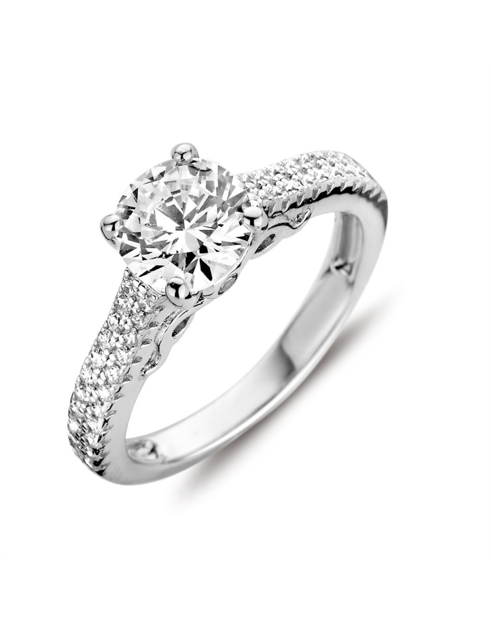 Silver Rose Ring Zilver R6396W-52