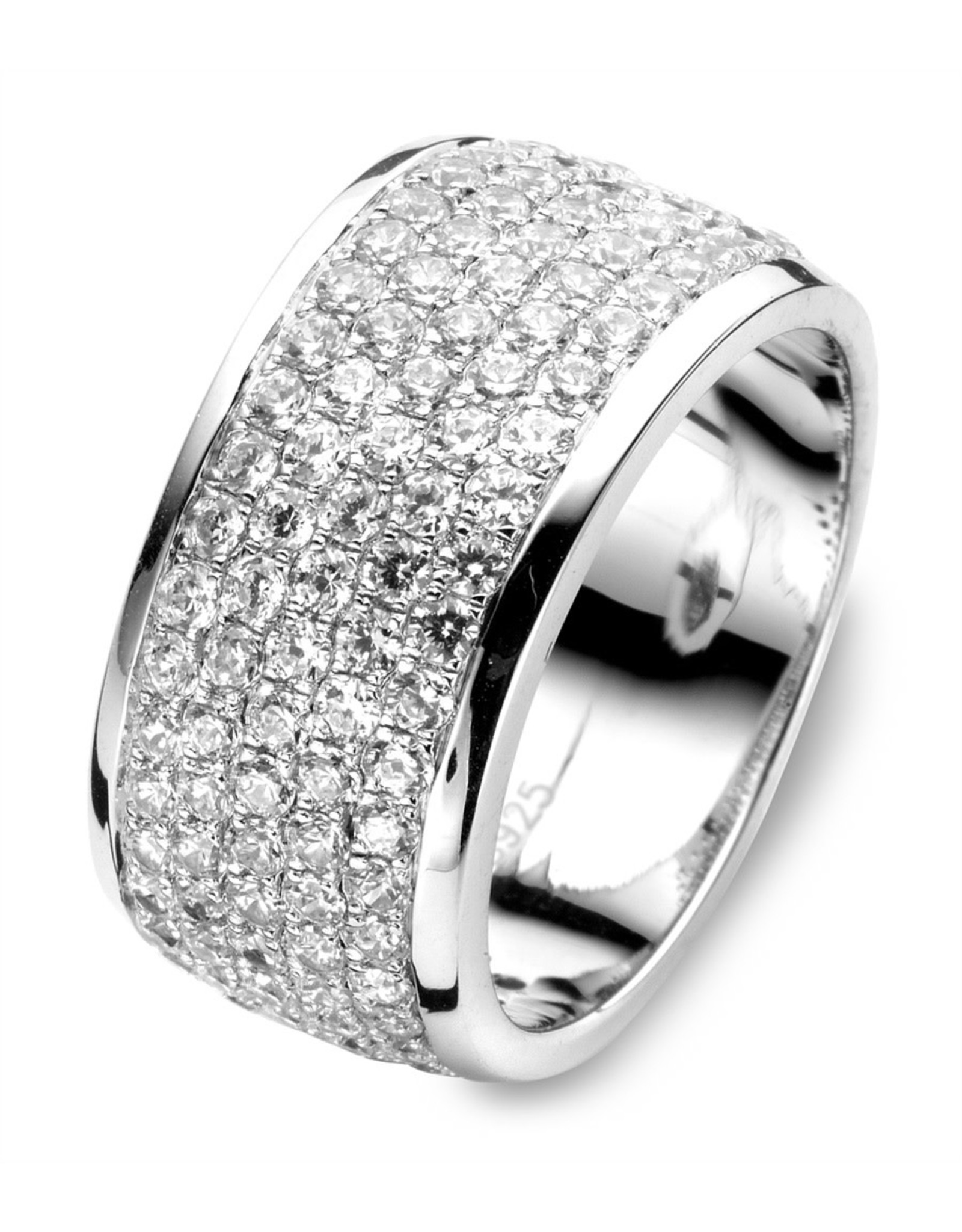 Silver Rose Ring Zilver Silver Rose R6804-56