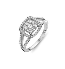 Silver Rose Ring Silver Rose Zilver R6234-56