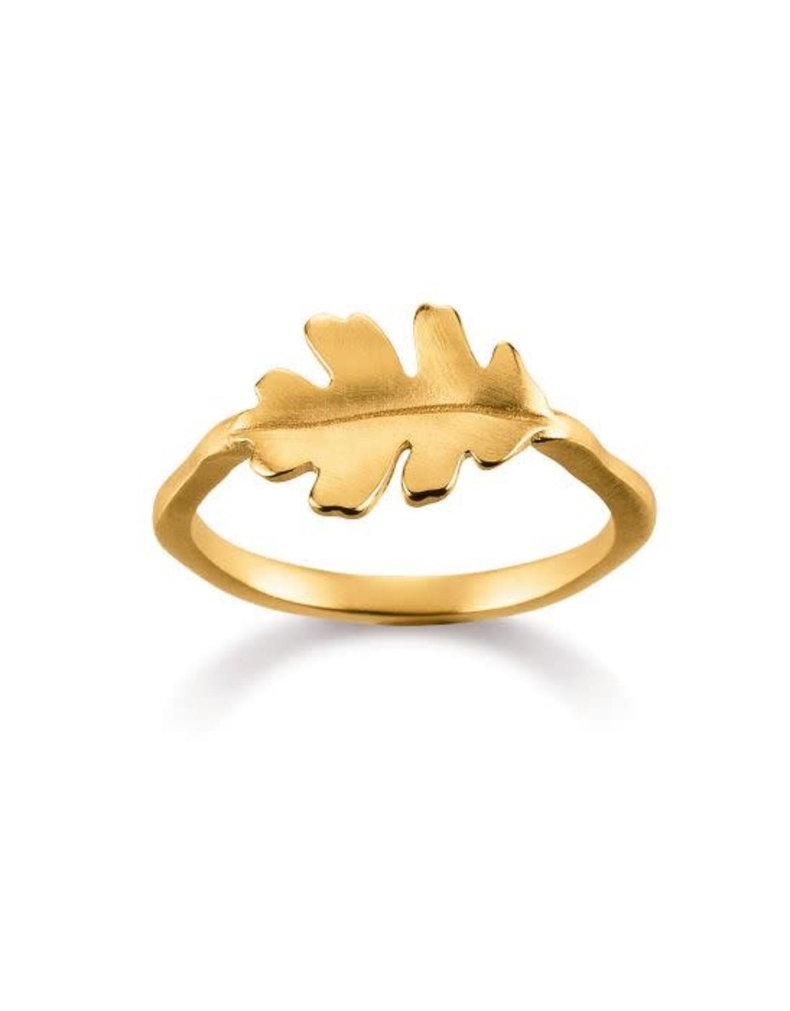 Viventy Ring Zilver Goudkleurig Viventy Blaadje VI/780691/54