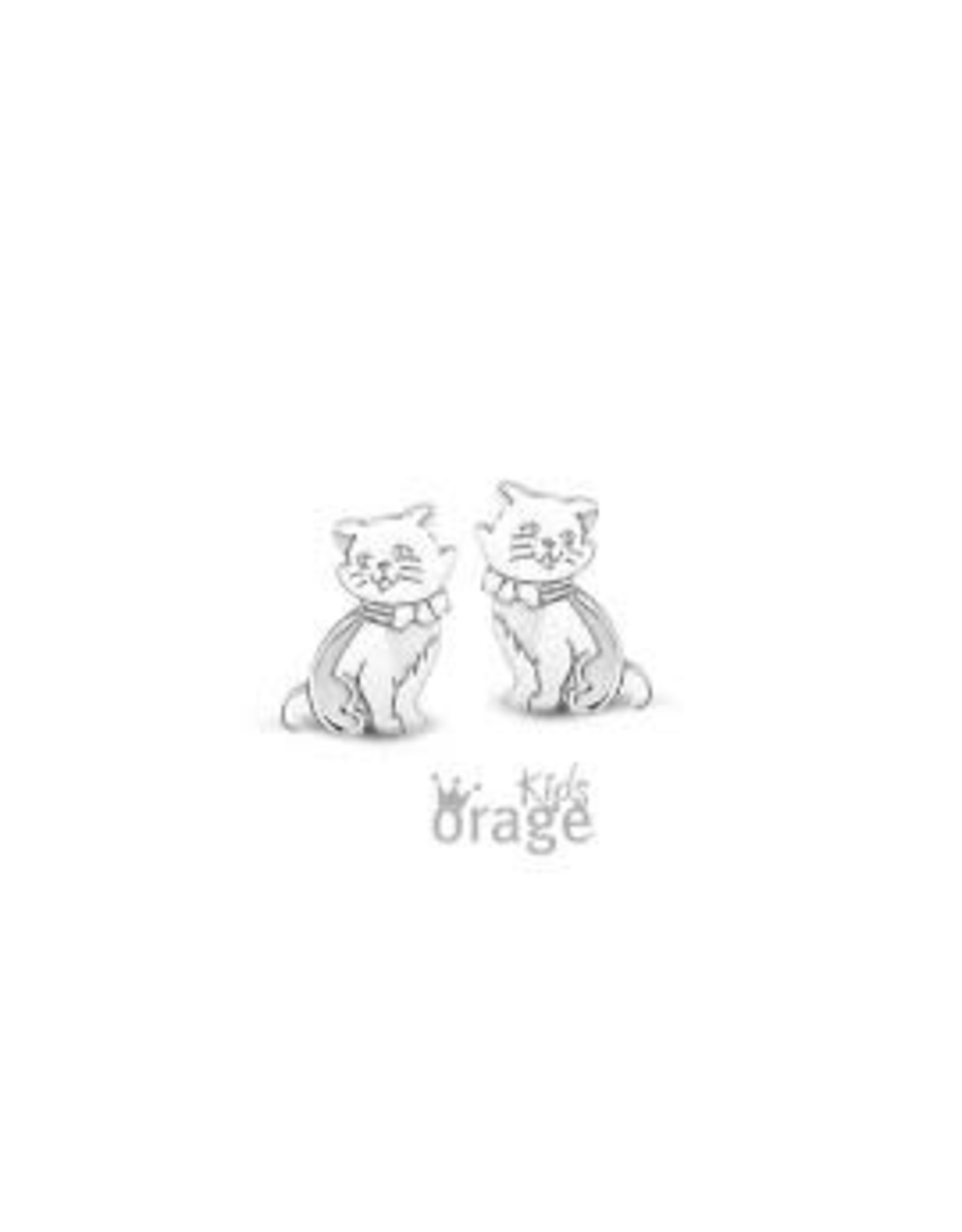 Orage Kids Oorbellen Orage Kids Zilver Poes K1690