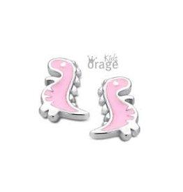 Orage Kids Oorbellen Orage Kids Zilver Dino Roze K1742