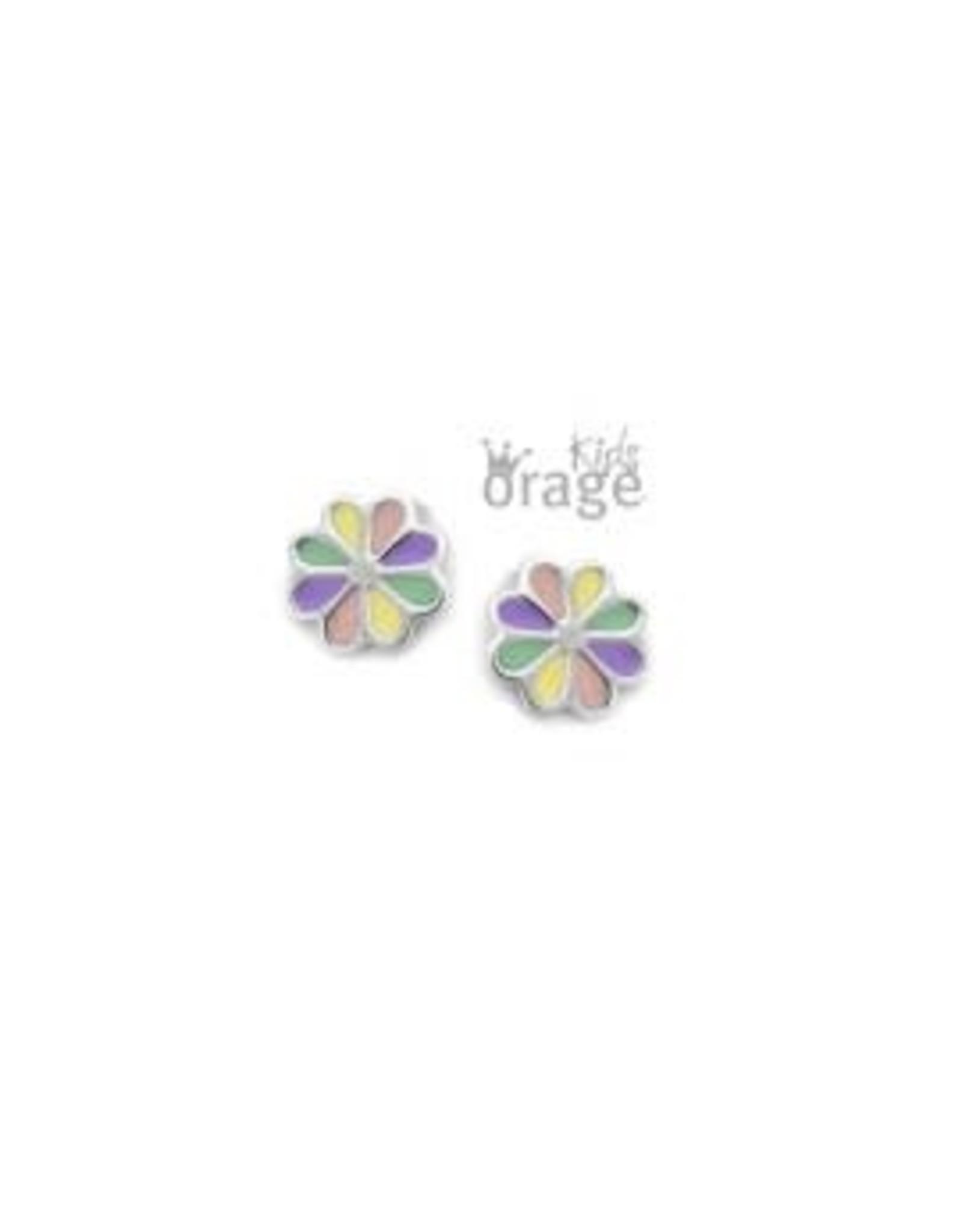 Orage Kids Oorbellen Orage Kids K1816 Bloem multi color pastel Zilver