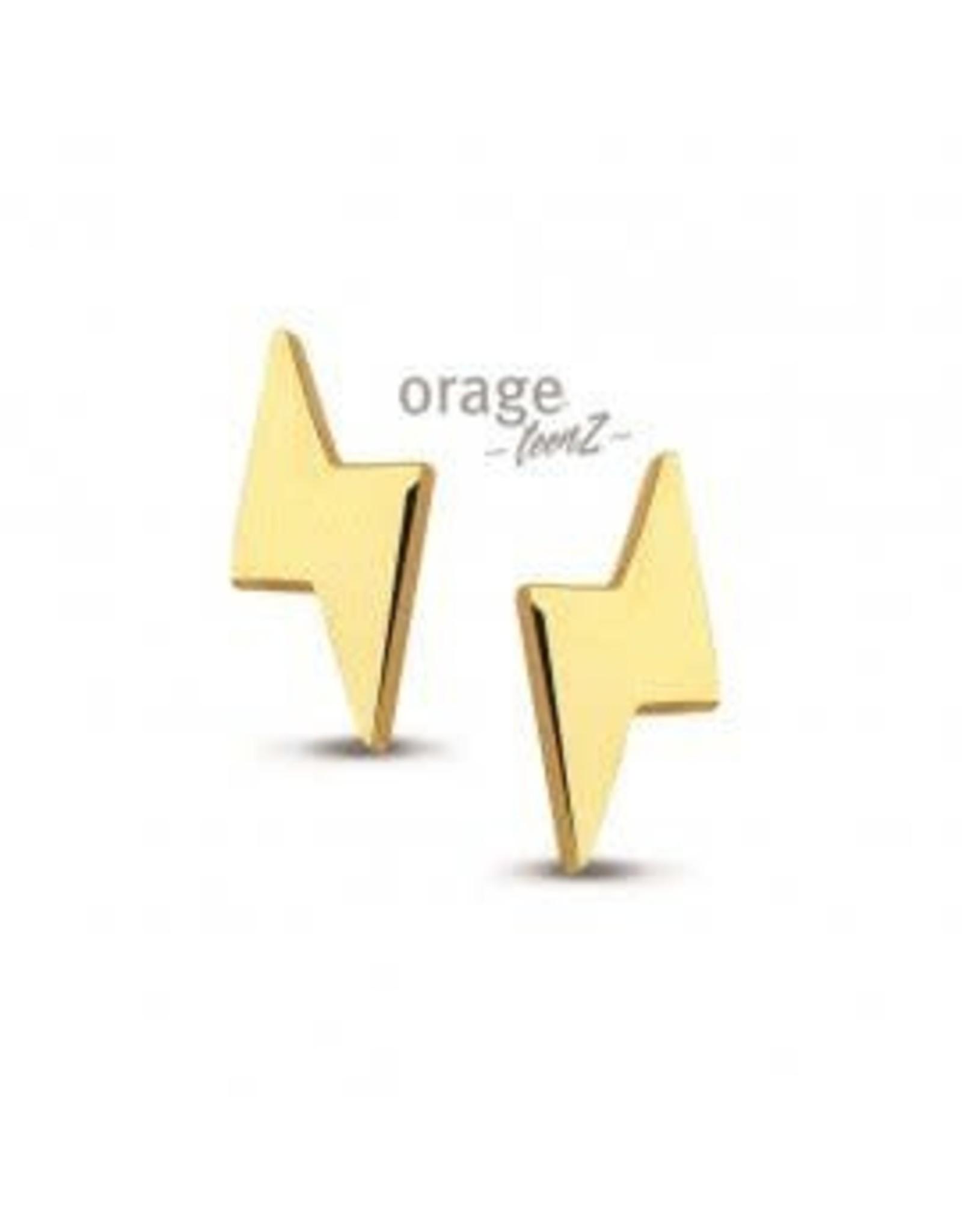 Orage Teenz Oorbellen Orage Teenz Staal goudkleurig T005