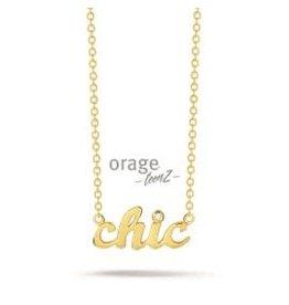 Orage Teenz Halsketting Orage Teenz Zilver Verguld Chic T061