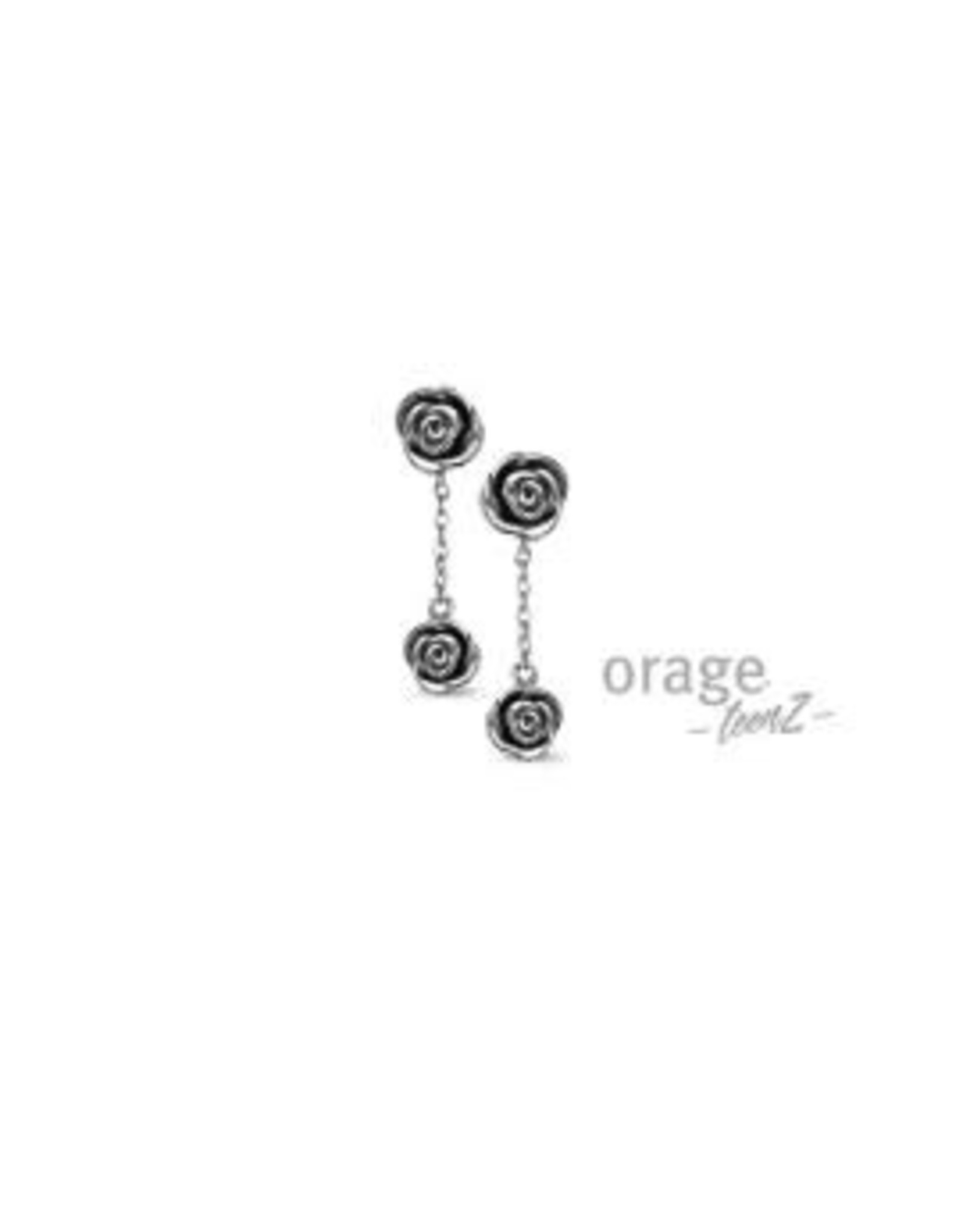 Orage Teenz Oorbellen/Oorslingers Orage Teenz Zilver Roos T160