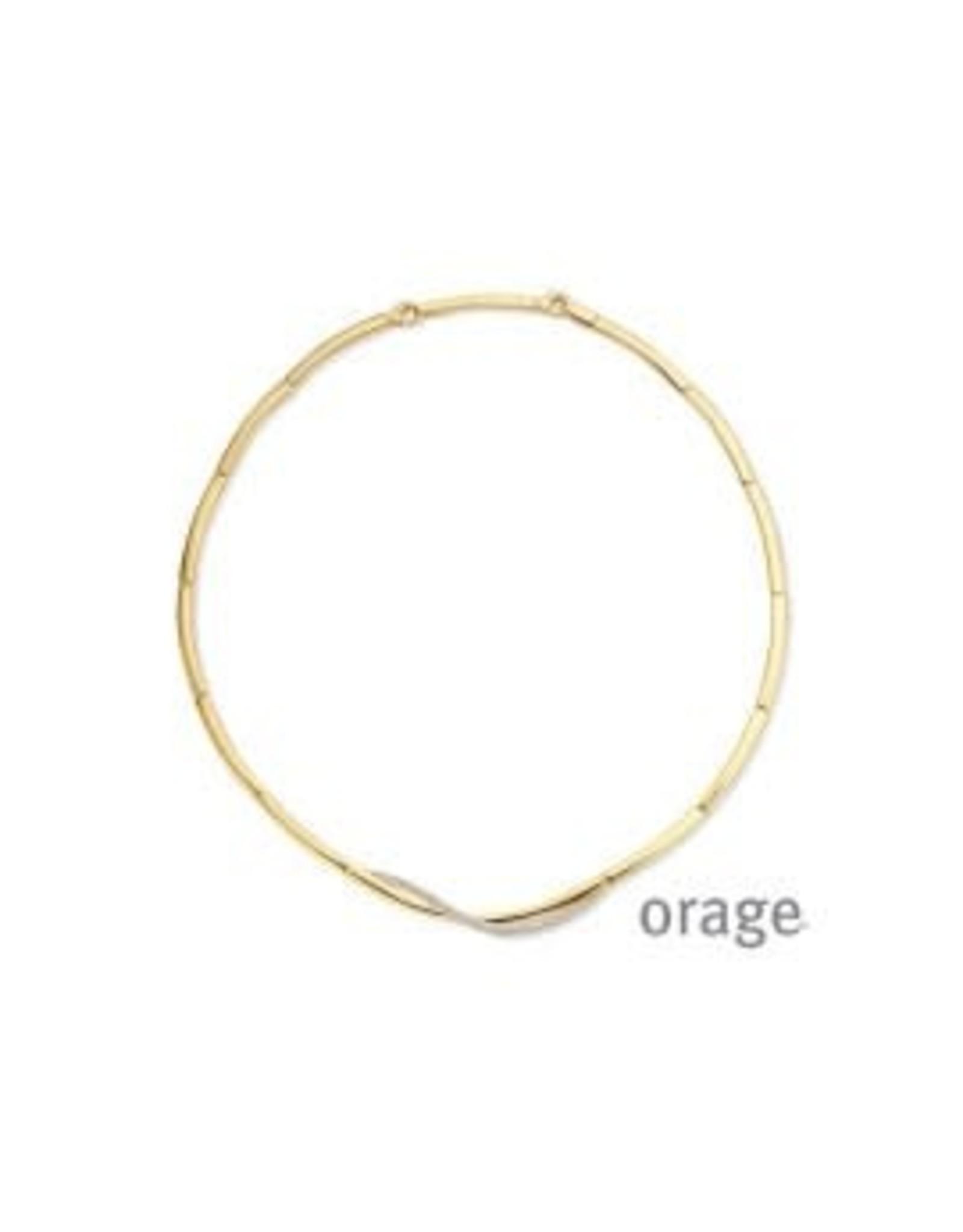 Orage Orage AP034 Halsketting Zilver Goudkleurig Zirkonia