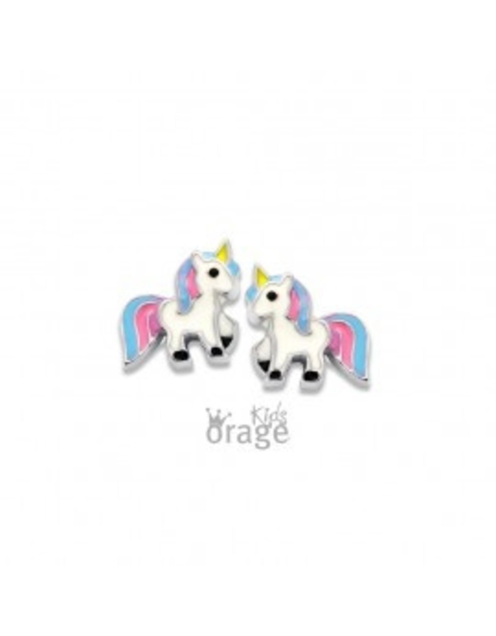 Orage Kids Oorbellen Orage Kids K2004 Eenhoorn Zilver