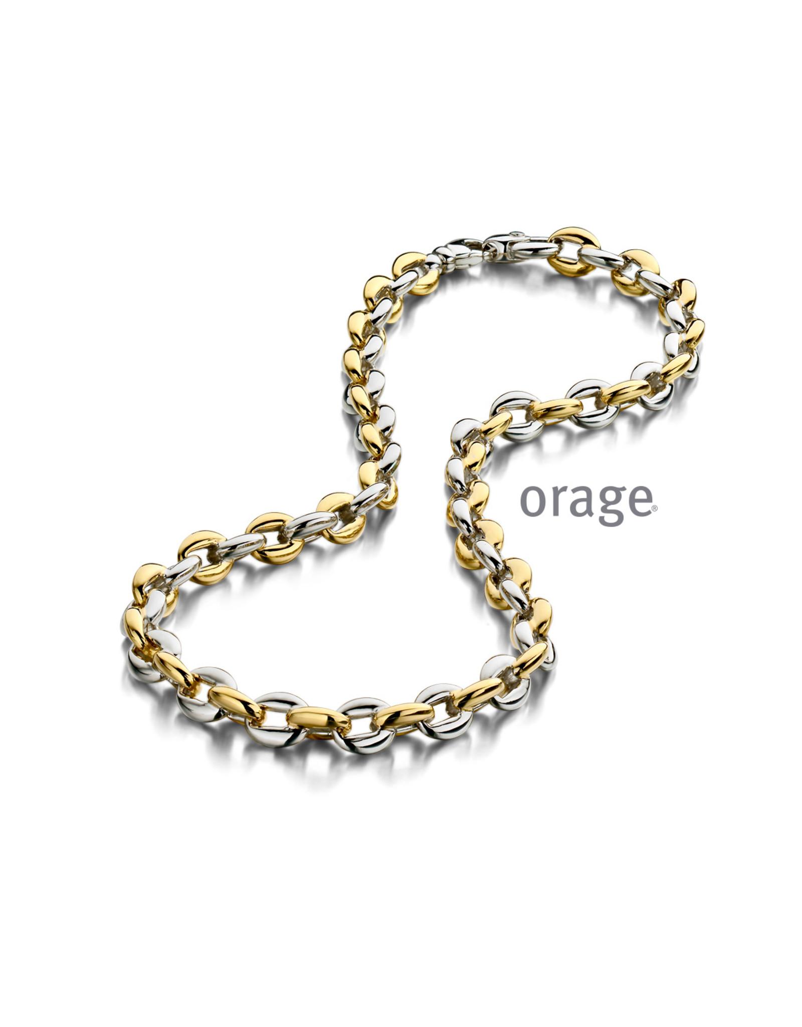 Orage Orage AP033/45 Halsketting Zilver Bicolor