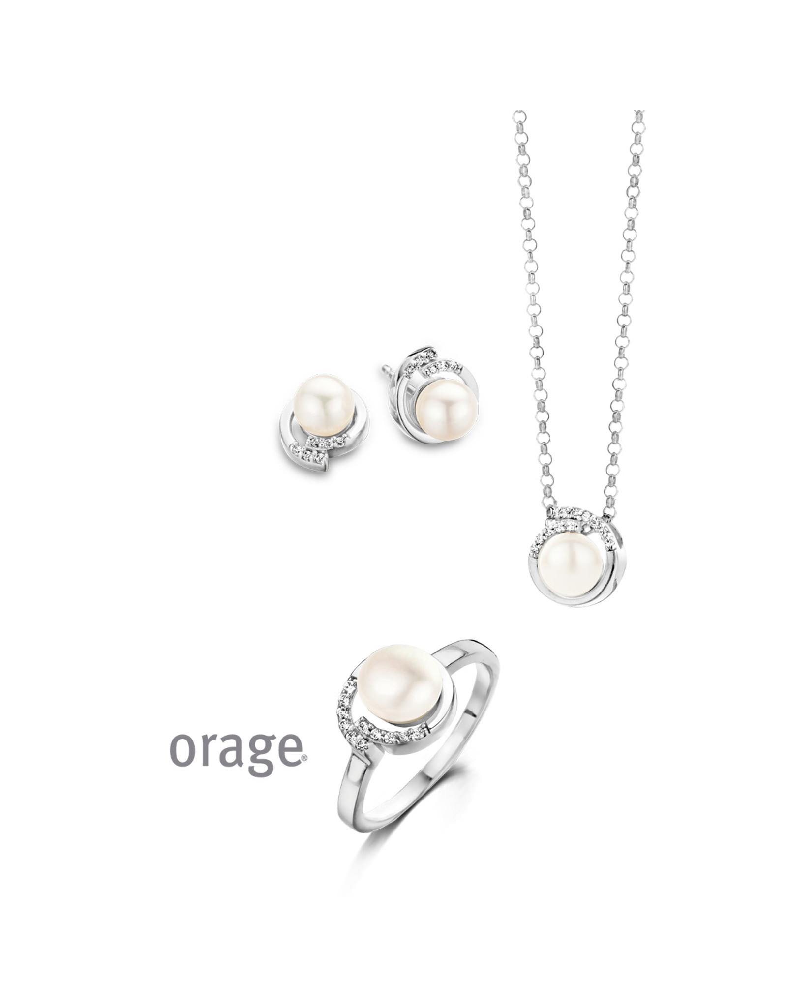 Orage Orage AF083 Ring Zilver Parel