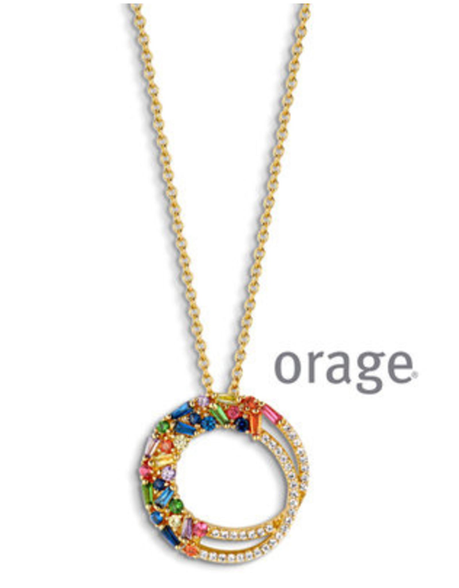 Orage Orage AP065 Halsketting Zilver Goudkleurig