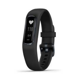 Garmin Garmin 010-01995-00 Vivosmart 4 Activity Tracker Black Silicone Band