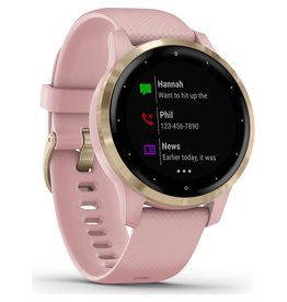 Garmin Garmin 010-02172-32 Vivoactive 4S Rose Case Pink Silicone Band Small