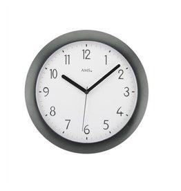 Radio controlled analog wall clock black mineral RF5845