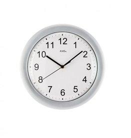 Radio controlled analog wall clock grey mineral RF5933