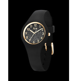 Ice Watch Ice Watch ICE Glitter Black Gold Numbers Extra Small