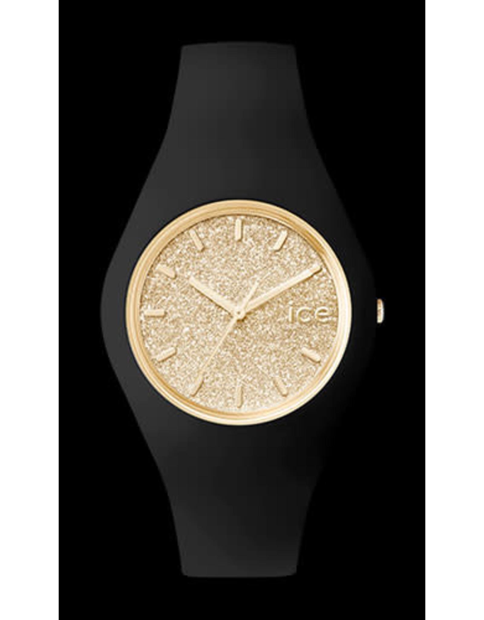 Ice Watch Ice Watch ICE Glitter Black Gold Medium