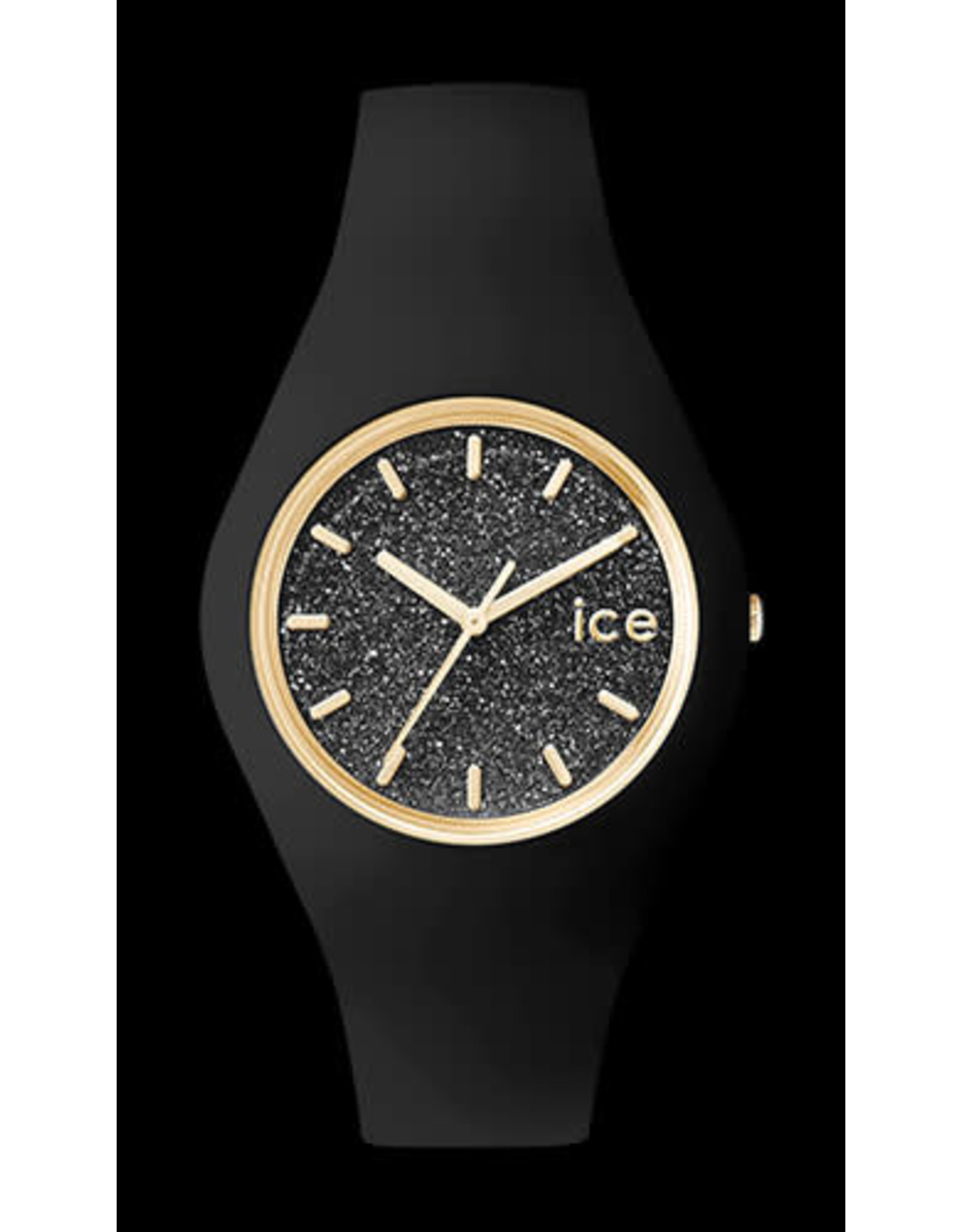 Ice Watch Ice Watch ICE Glitter Black Rosé Medium