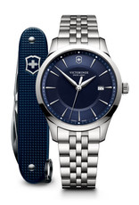 Victorinox Victorinox 241802.1 Alliance Diameter 40 Blue Dial with Swiss Army knife - Gift Box