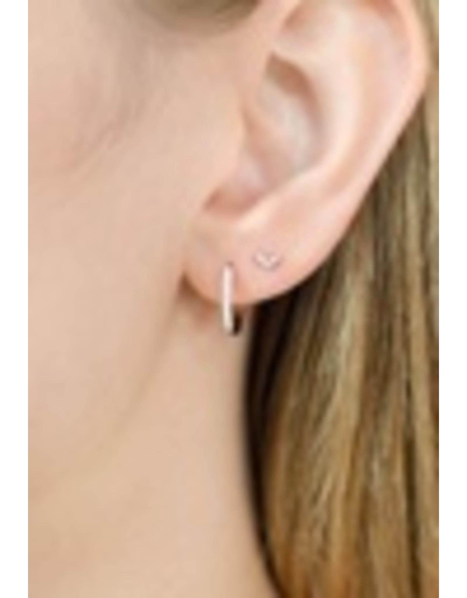Diamanti Per Tutti Agra Earring (Single) - Zilver Goudkleurig Briljant
