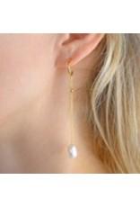 Diamanti Per Tutti Audrey Earrings - Zilver Goudkleurig Parel