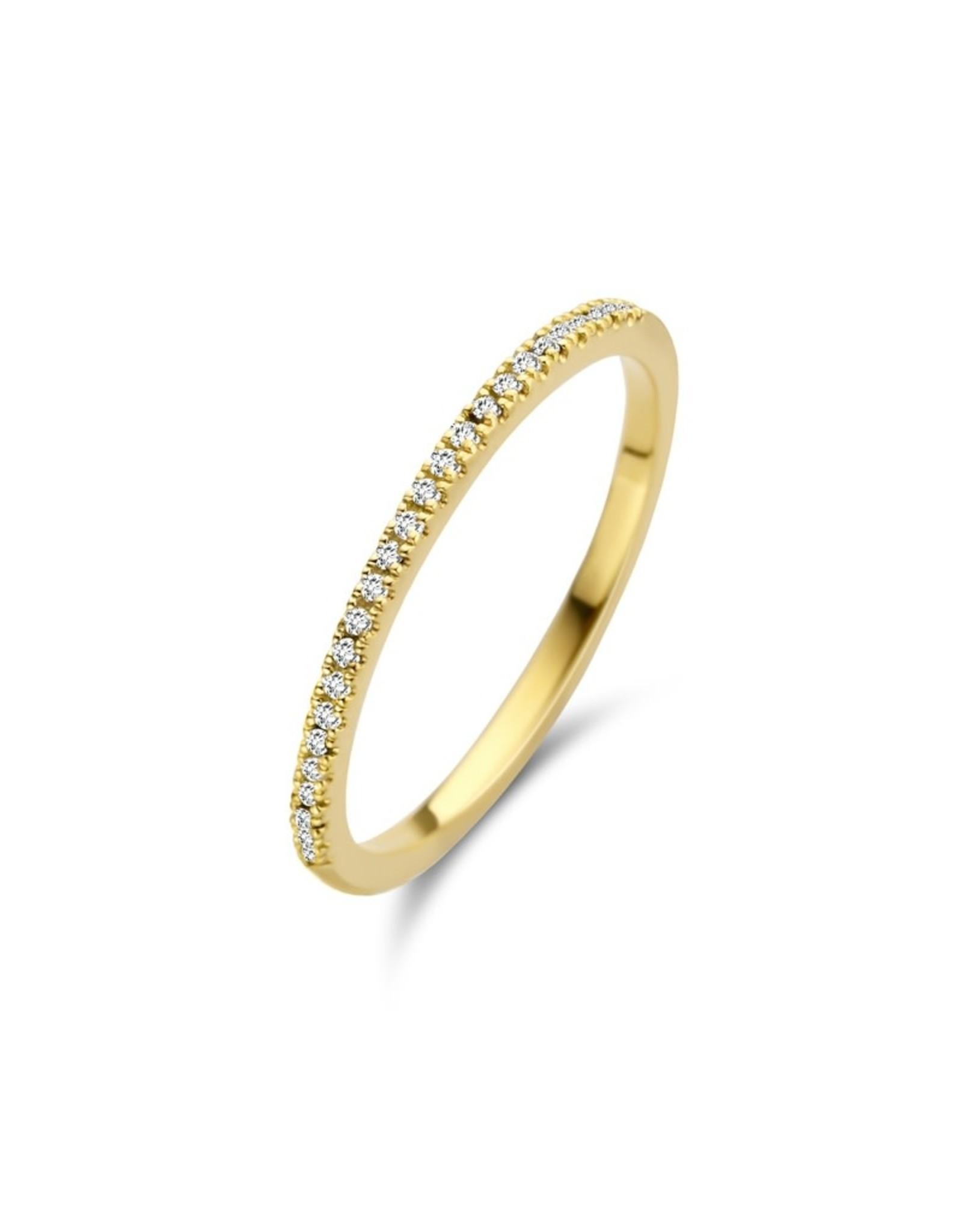 Diamanti Per Tutti Diamond Moon Ring - Zilver Goudkleurig - 52