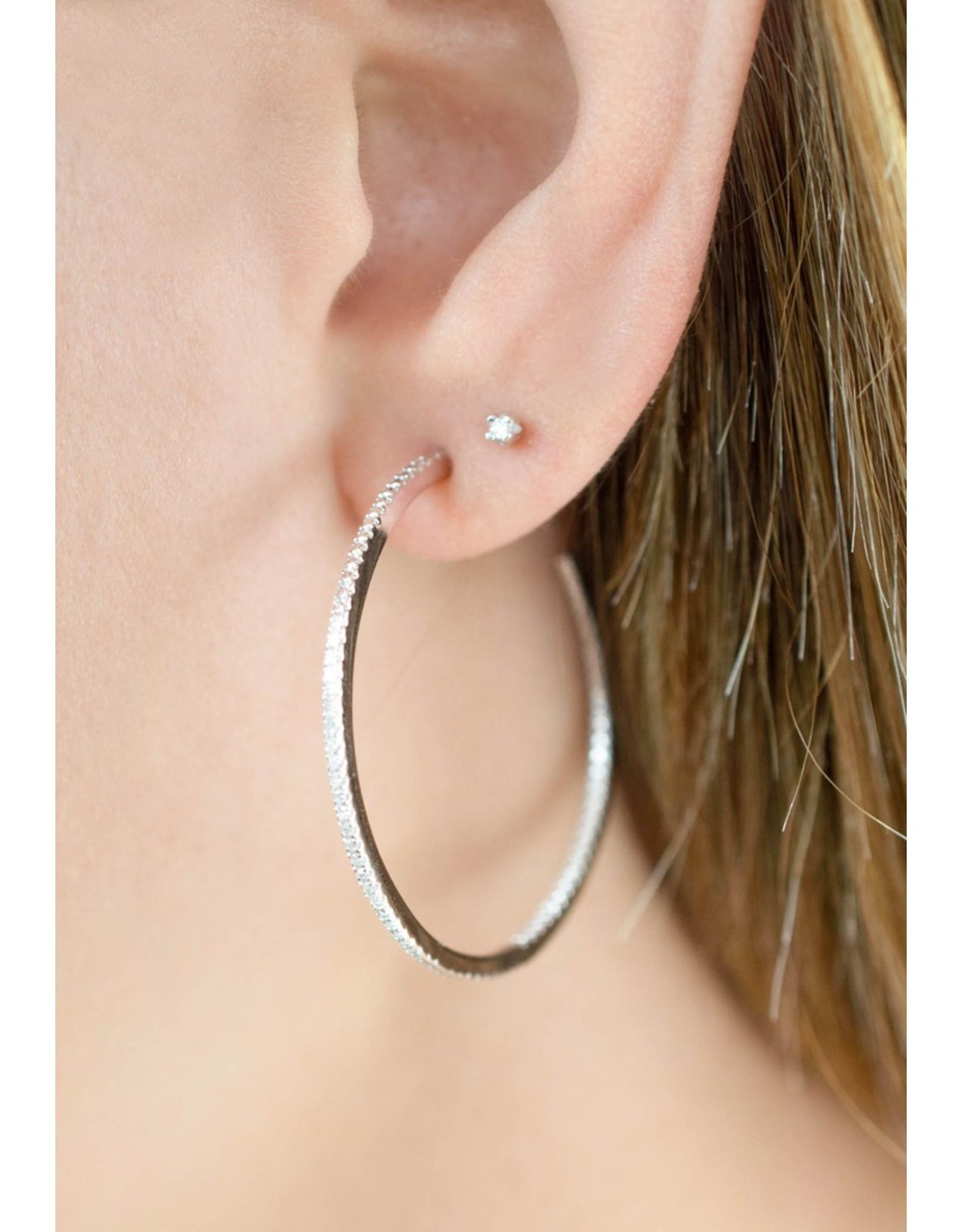 Diamanti Per Tutti Endless Diamond Earring (XL) - Zilver Briljant