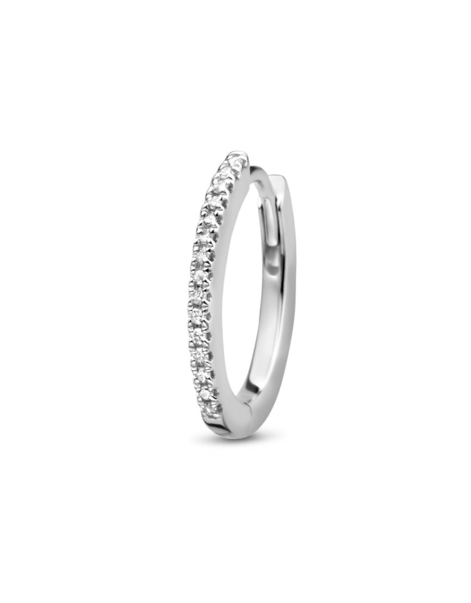 Diamanti Per Tutti Endless Oval Hugging Hoop - Zilver Briljant